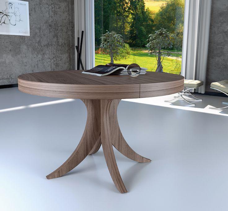 Mesa extensible redonda oval comedor madrid mesas - Mesas de madera redondas extensibles ...