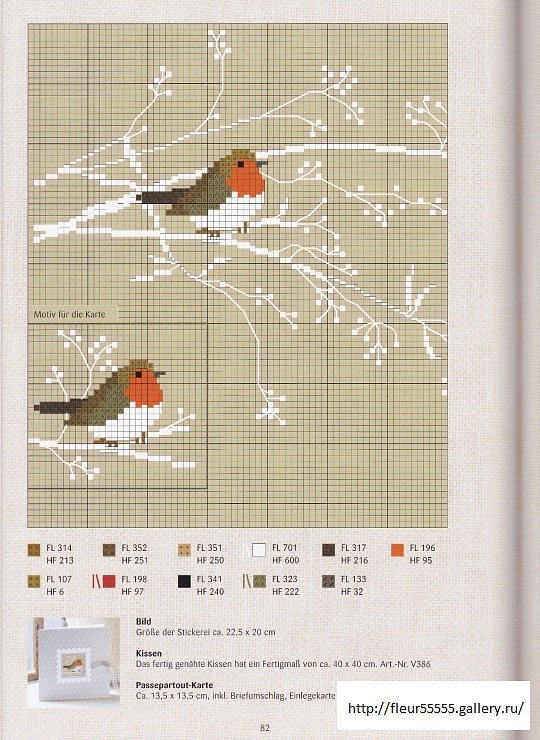 Cross stitch birds in a tree  ...for my painted cross stitch wall!