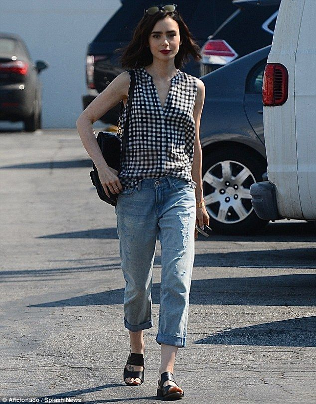 She's timeless: Lily Collins looked classy although she was casually clad…