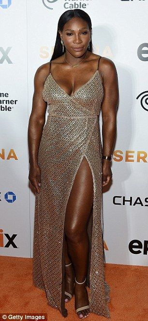 All about her: Serena Williams arrived to the New York City premiere of her self-titled do...