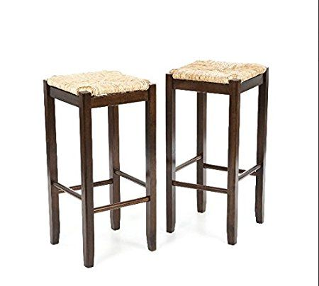 Wicker Rattan Wood Bar Stools Counter Height 29 Inches Set of 2 Fabric At Home Bars For Kitchen Discount And Unique Discounted Inexpensive 2 Piece Best Furniture Fun Breakfest Antique Stool Cheap
