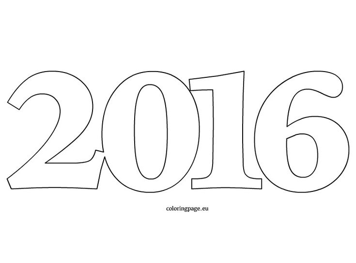 17 best images about 2016 happy new year on pinterest for Happy new year coloring pages 2016
