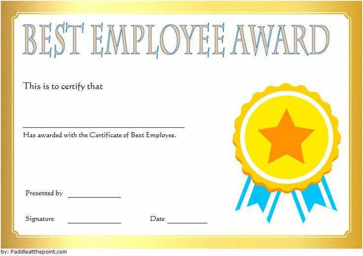Best Dressed Award Certificate Unique Best Employee