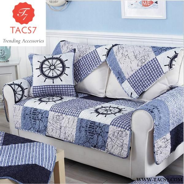 1 Piece Cotton Fabric Sofa Cover Patchwork Printing Soft Modern Slip Resistant Slipcover Seat Couch For Fabric Sofa Cover Sofa Covers Cheap Cheap Couch Covers