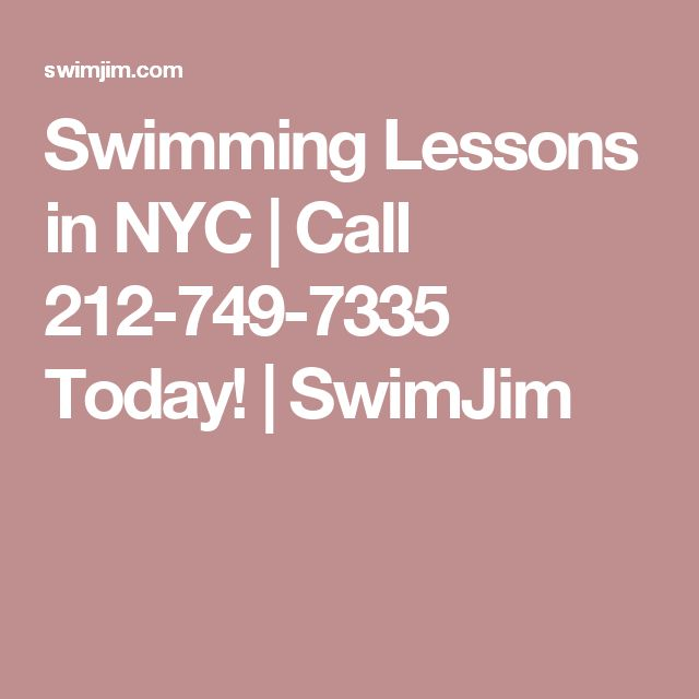 Swimming Lessons in NYC | Call 212-749-7335 Today! | SwimJim