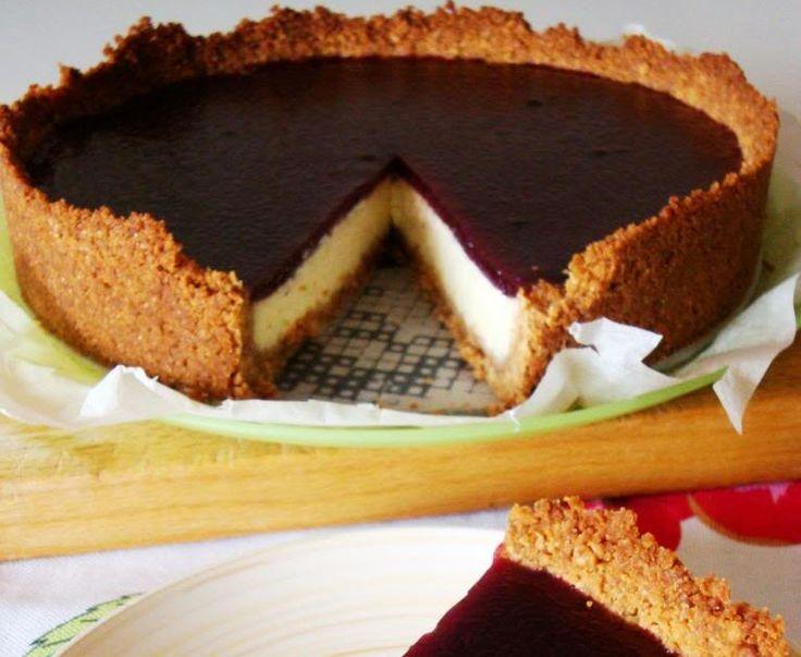 dopo alcuni tentativi credo di aver trovato, finalmente, la ricetta del perfetto cheesecake!  non sono un'amante di gelatine e colla pesce...