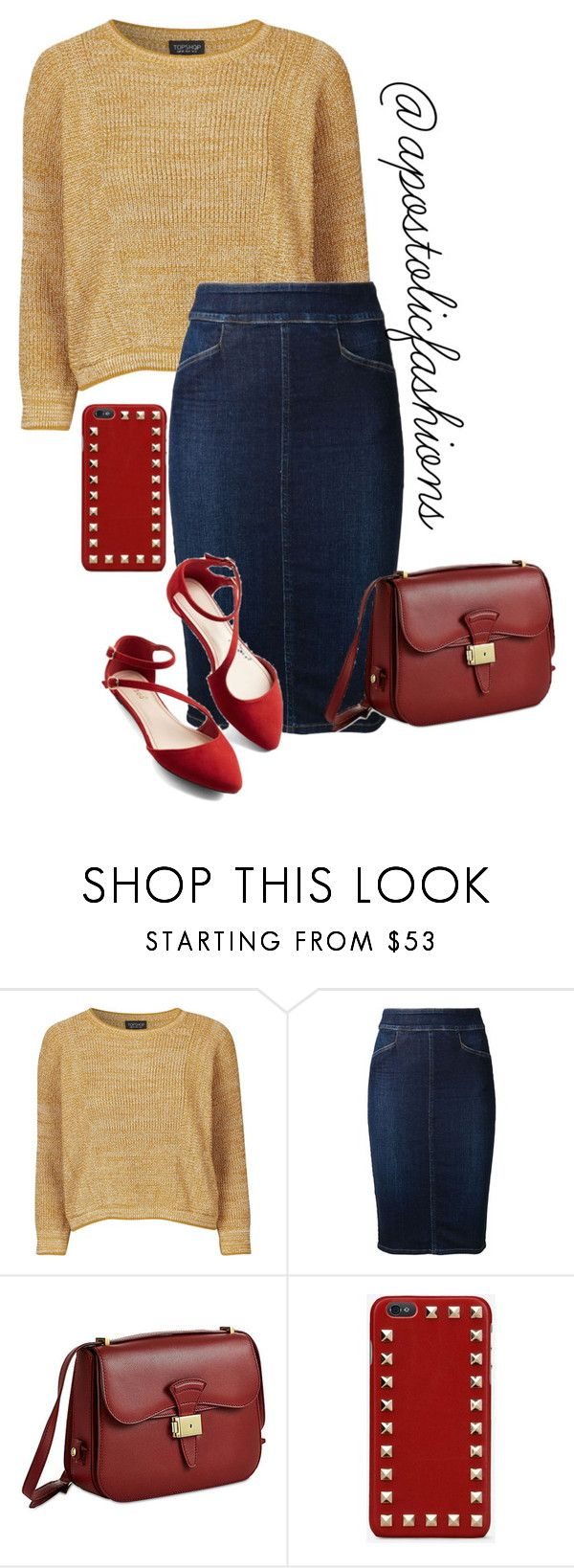 """""""Apostolic Fashions #1344"""" by apostolicfashions on Polyvore featuring Topshop, Citizens of Humanity, Dressage Collection and Valentino"""