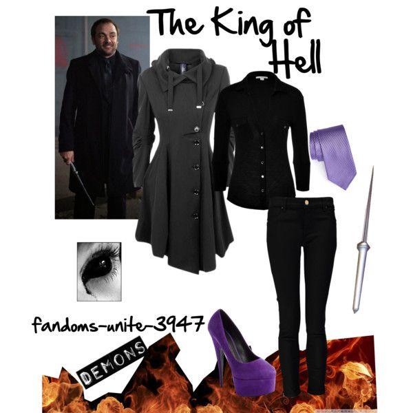 """Supernatural: Crowley"" by fandoms-unite-3947 on Polyvore"