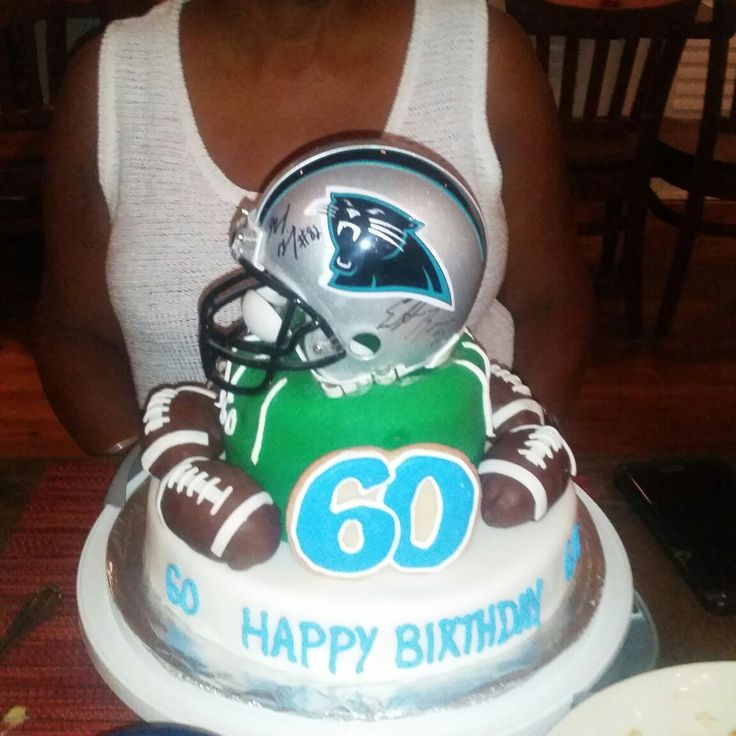 Carolina Panther cake for a fan's 60th birthday. Keep pounding!
