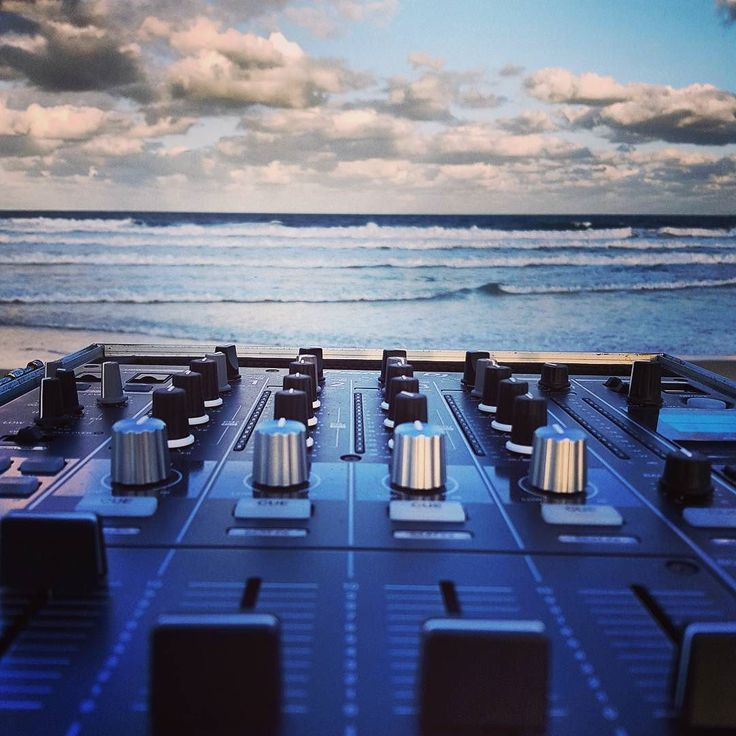 DJ on the beach
