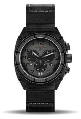Military grade watch for men. Worn by special forces and operations units. Rugged and durable watch with a brass dial and sapphire glass, built for action!