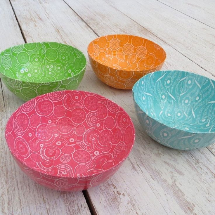 """- Product Details - Handmade By - ♥Handmade Papier-mâché bowl ♥Measures 5"""" across & 2"""" deep ♥Decorative use ♥Handmade in South Africa Wola Nani Wola Nani Craft project emerged in response to the need"""