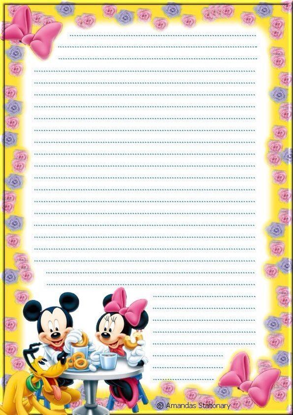 disney writing paper