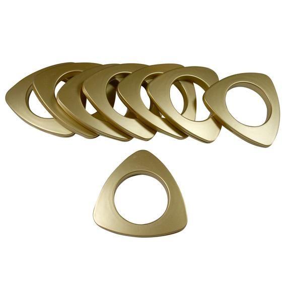Gpt15 Mb Matte Brass 15 Plastic Triangle Curtain Grommets 1 7 8