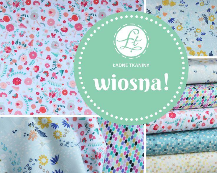 Wiosenne wzory Art Gallery Fabric w Ładnych tkaninach www.ladnetkaniny.pl