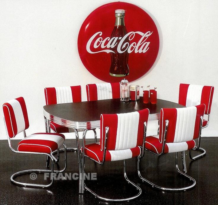 Retro fifties stoelen en tafel