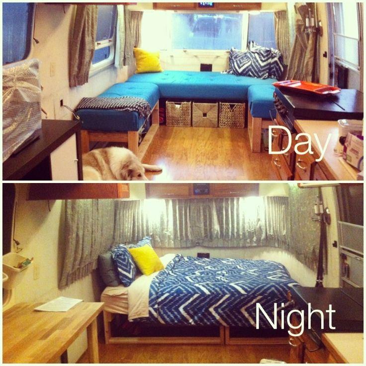 Morning To Night configuration - Ideen für den Innenausbau von deinem Van oder Bulli. Für ein tolles neues Roadtrip Abenteuer