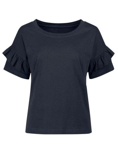 Shirt mit modischen Volantärmeln