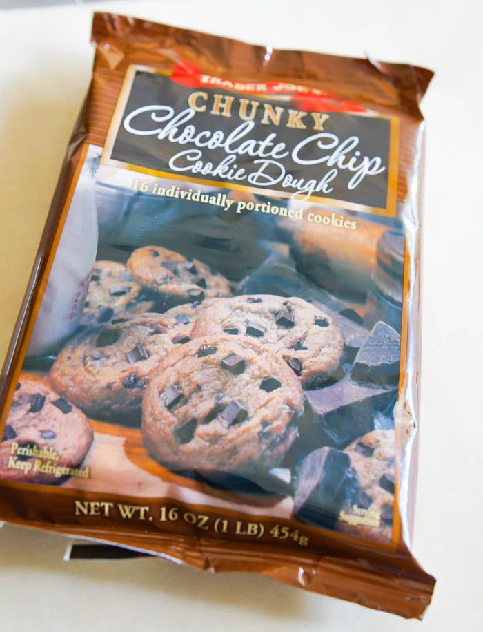 Weekly review of Trader Joe's sweets and desserts from a mom and teenager perspective. This week: Trader Joe's Chunky Chocolate Chip Cookie Dough.