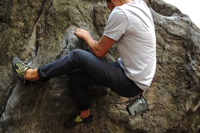 outlier's climbers : which are dress-ish pants that you can ride your bike and climb in.