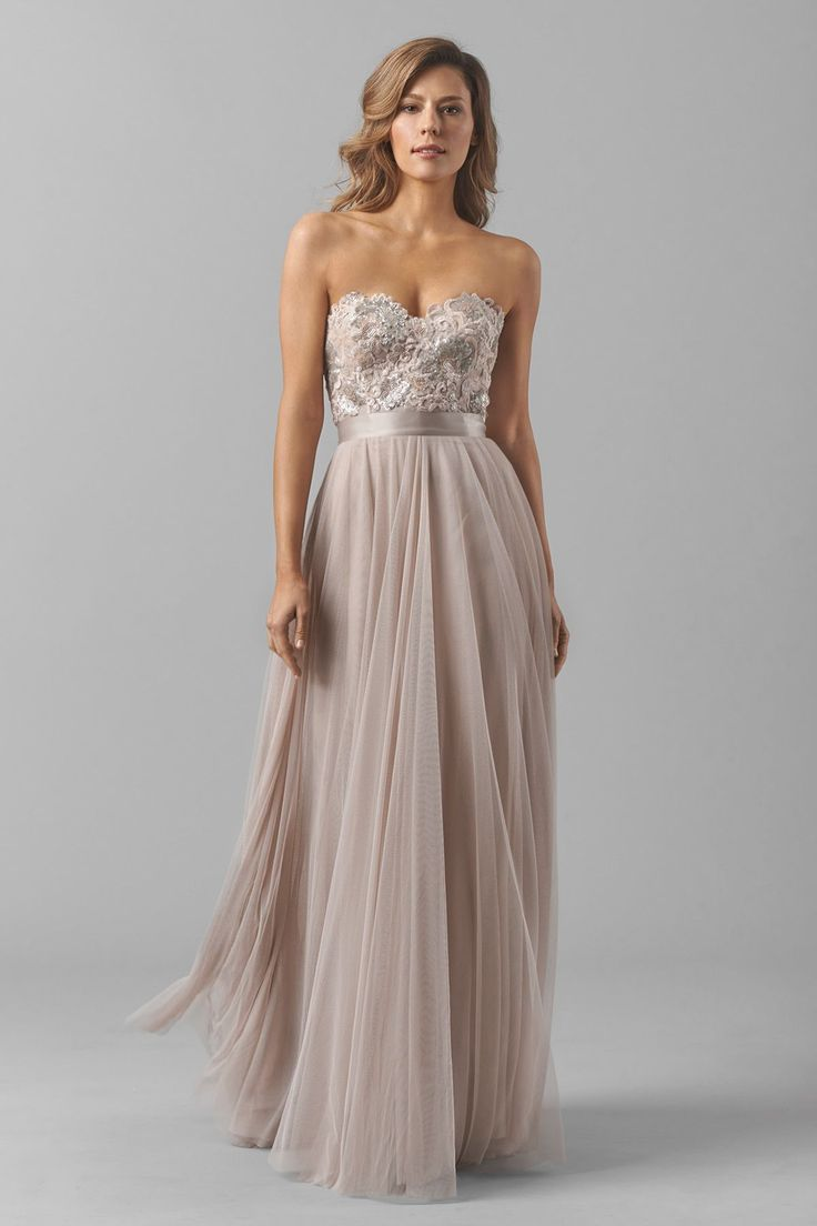 Strapless bridesmaid dress