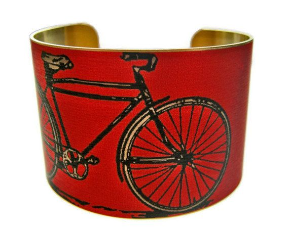 Classic bikes make for great jewelry. Could bikes replace birds as the next decorative trend?: Cuffs Bracelets, Bicycles Cuffs, Minnesota Months, Bike Brass, Bike Cuffs, Cuff Bracelets, Bracelets Brass, Brass Cuffs, Stainless Steel