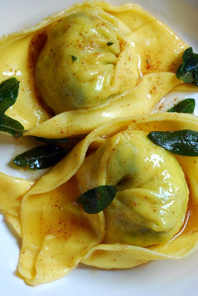 Homemade Cappellaci with Sage Brown Butter Sauce by haalo