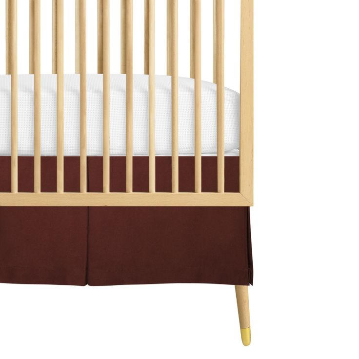 Brown Crib Skirt 27
