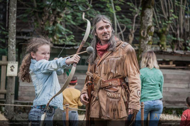 ©#armutan ©#simongarnier #western #trappeur #archerie #animation #enfants #megève
