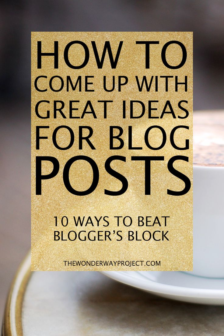 10 surefire ways to come up with great blog post ideas! I've found a lot of ways to come up with blog post ideas and beat the blank screen! Overcome Blogger's Block and start writing! ---> Click through to the blog to get my best tips!
