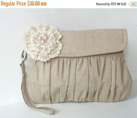 Black Friday Sale Rustic wedding clutch  wedding clutch  by Oyeta