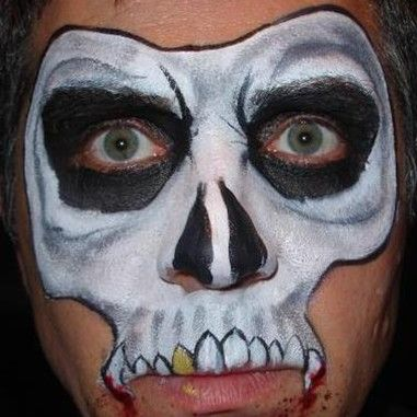 scary halloween painted faces ideas