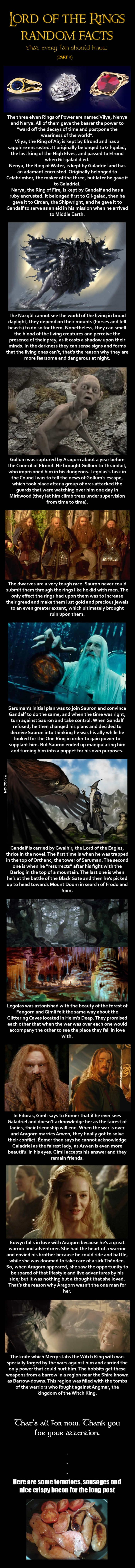 Here are some Lord of the Rings random facts (Part 3 of 8)