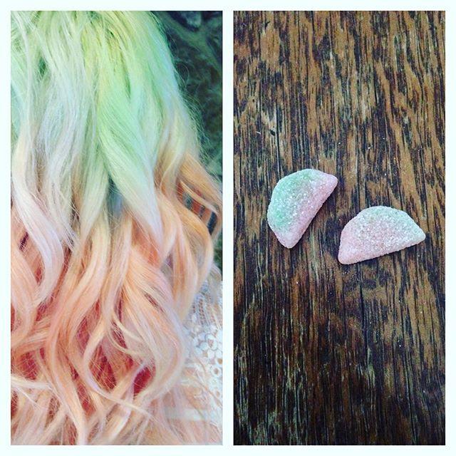 17 Best Watermelon Hair Images On Pinterest Colourful Hair