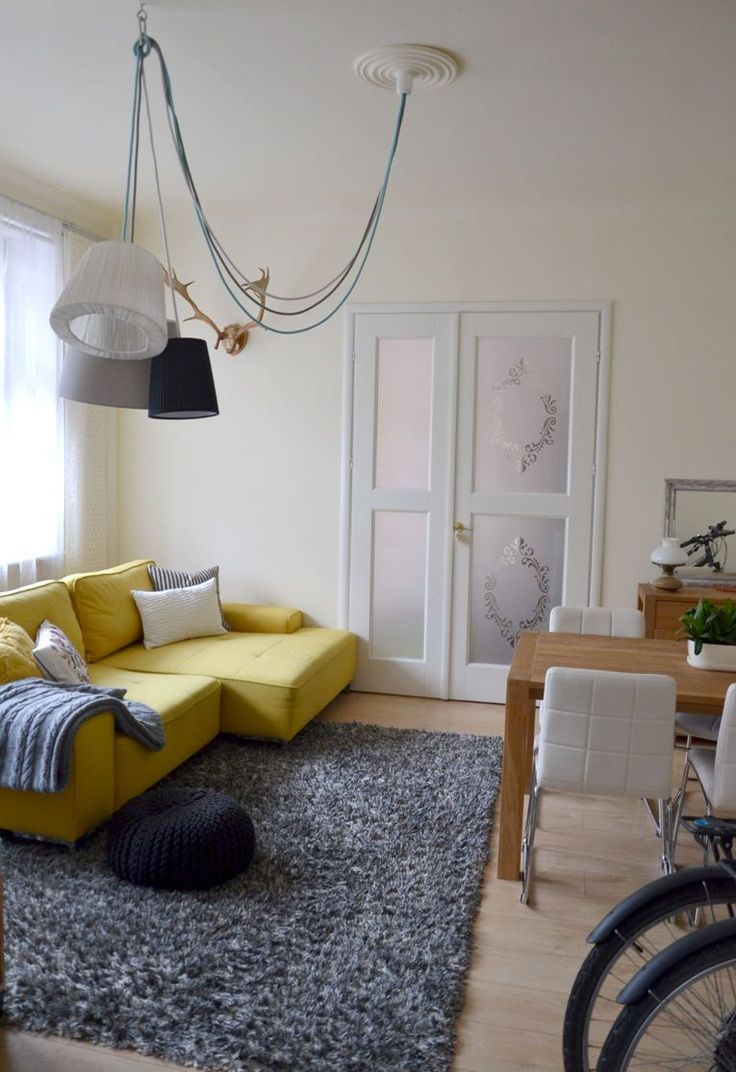 My big yellow sofa-love! :)