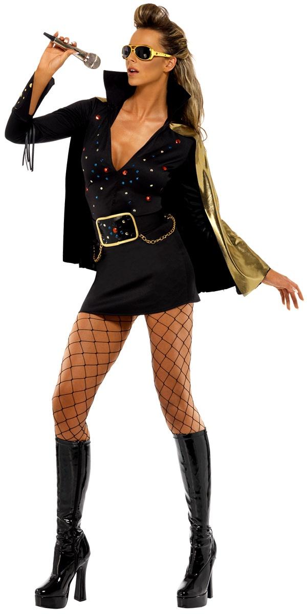 Elvis Viva Las Vegas Black Costume