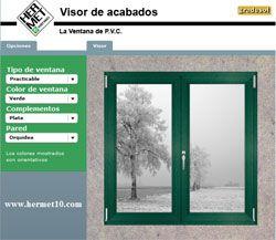Visor de acabados para ventanas de PVC