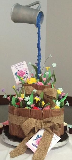 Garden Gravity Defying Cake - For all your cake decorating supplies, please visit craftcompany.co.uk