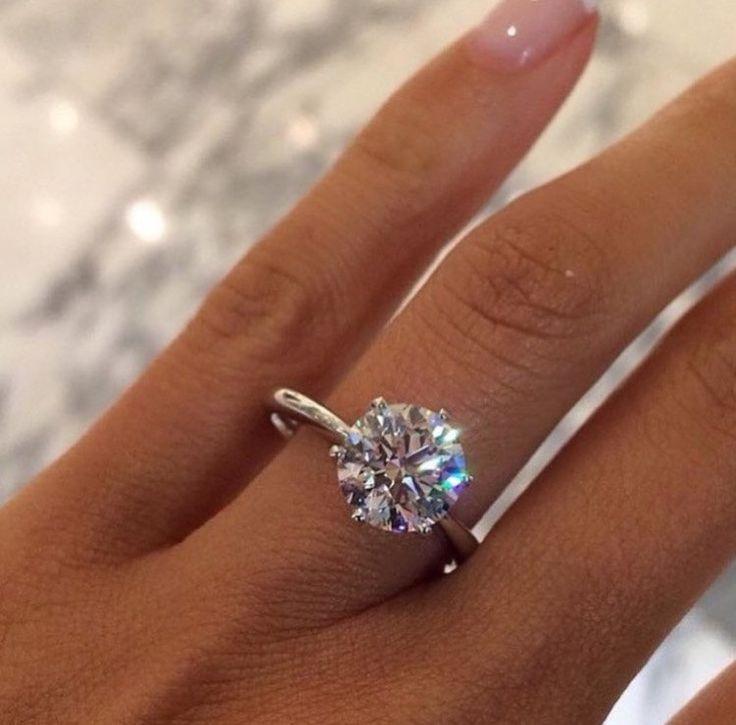 1.04 carat Round Brilliant Cut G SI2 Diamond Solitaire Engagement Ring by DiamondMarket on Etsy