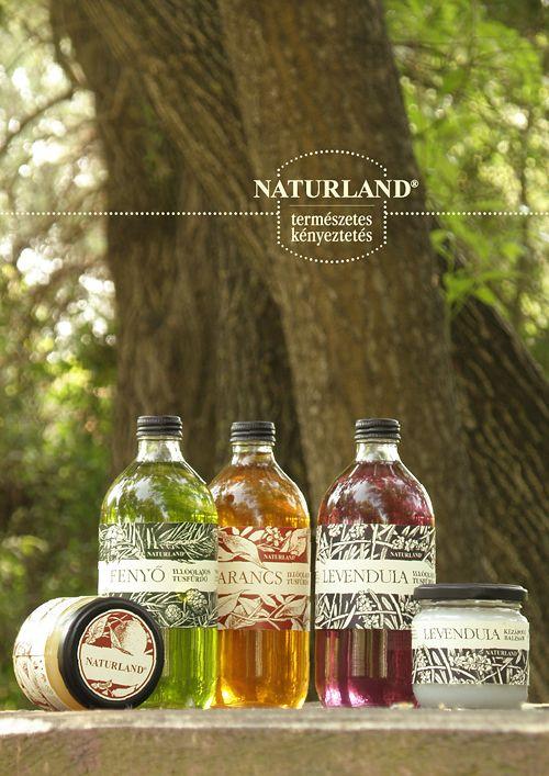 Bio cosmetics | Naturland by Barbara Bernat, via Behance
