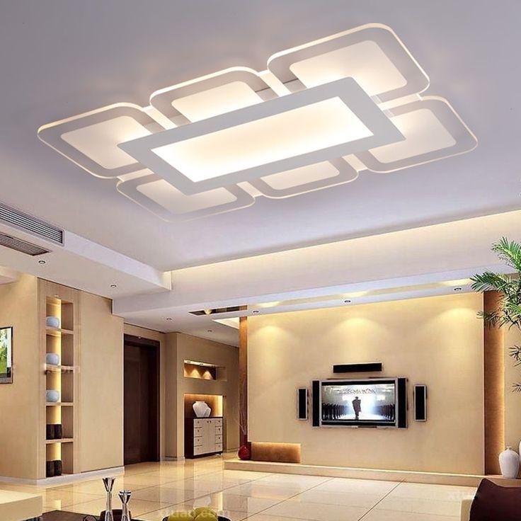 Ultrathin Remote control Modern ceiling chandelier lights for living room Bedroom hallway home ceiling chandelier lamp fixtures #Affiliate