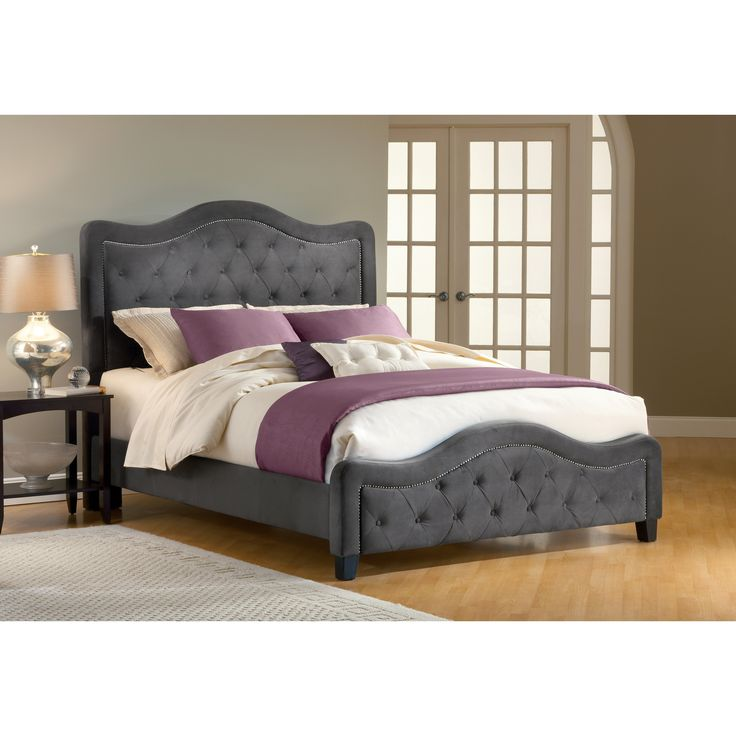 Trieste Upholstered Bed - Pewter