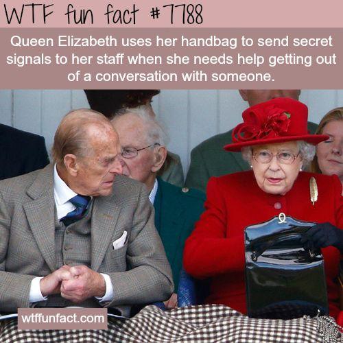 Queen Elizabeth's handbag - WTF fun facts