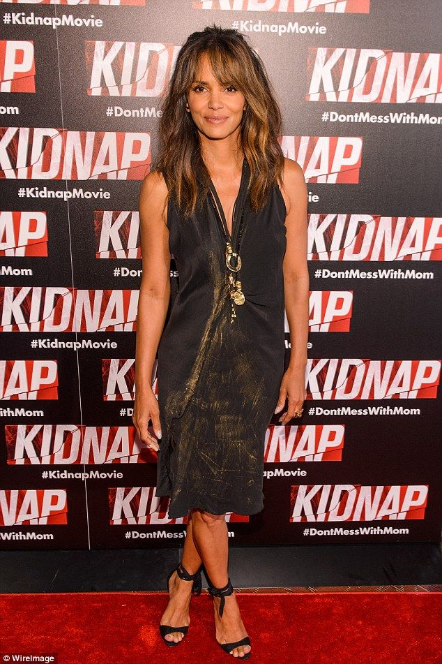 Stunning! Halle Berry looked as youthful as ever as she attended the premiere of her latest movie, Kidnap, on Tuesday