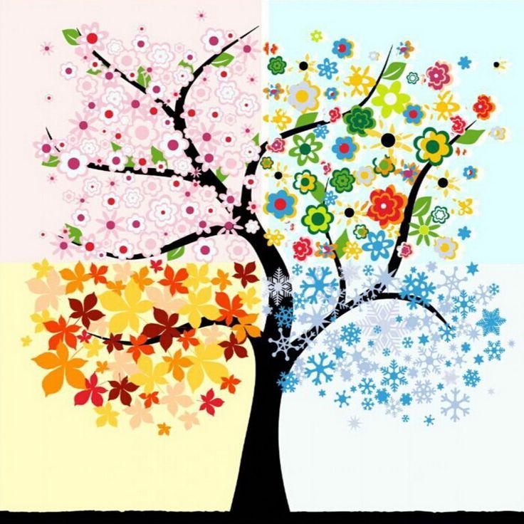 חיים צבעוניים ציורי שמן הדיגיטלי diy 1 set by מספרי עץ מופשט handpainted בד ללא מסגרת בית קישוט קיר 40x50 cm(China (Mainland))