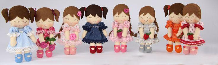 Filcowe laleczki  Felt dolls