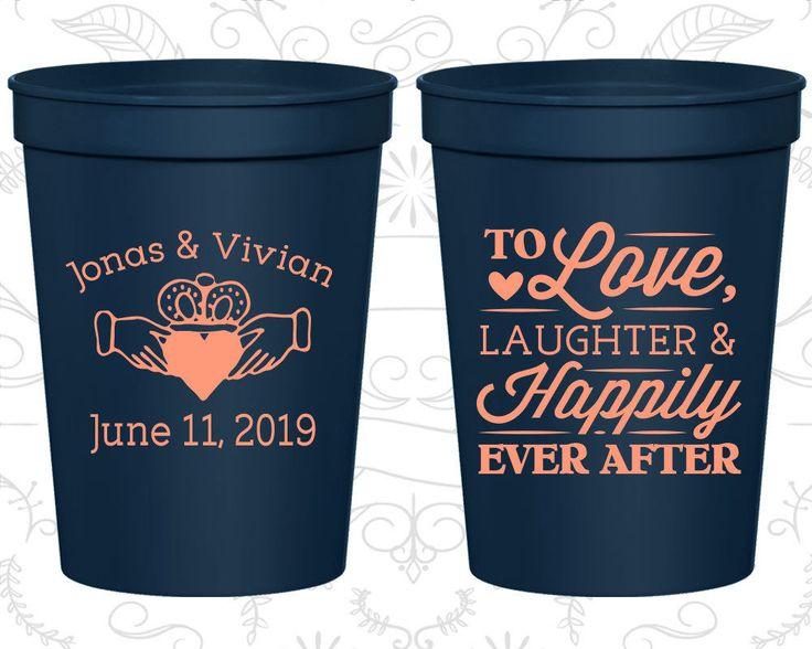 Personalized Plastic Stadium Cups Custom Cup (446) Irish Wedding, Claddagh #Unbranded