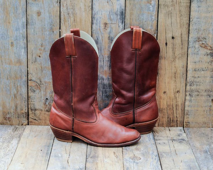 Mens Cowboy Boots, Us 11, Uk 10.5, Eu 44, Leather Cowboy boots, Mens Western boots, USA MADE boots, Mens Rodeo Boots, Mens Dexter Boots by FauxyFurrVintage on Etsy