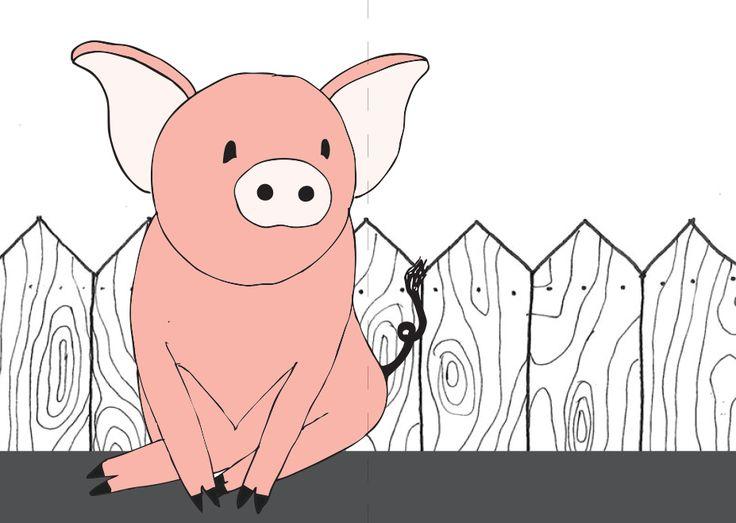 animal / tail cards pig