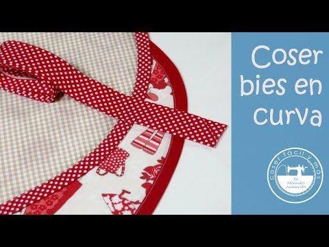 Cómo coser bies o sesgo en pico o esquina invertida - YouTube
